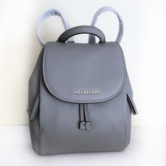 581672aafbad ... new arrivals michael kors riley medium flap backpack ash gray 6dd02  e6c7b